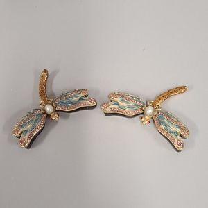Dragonfly Jeweled Crystal Trinket Jewelry Box